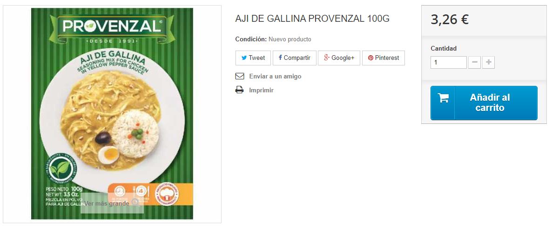 Aji de gallina Provenzal latincor