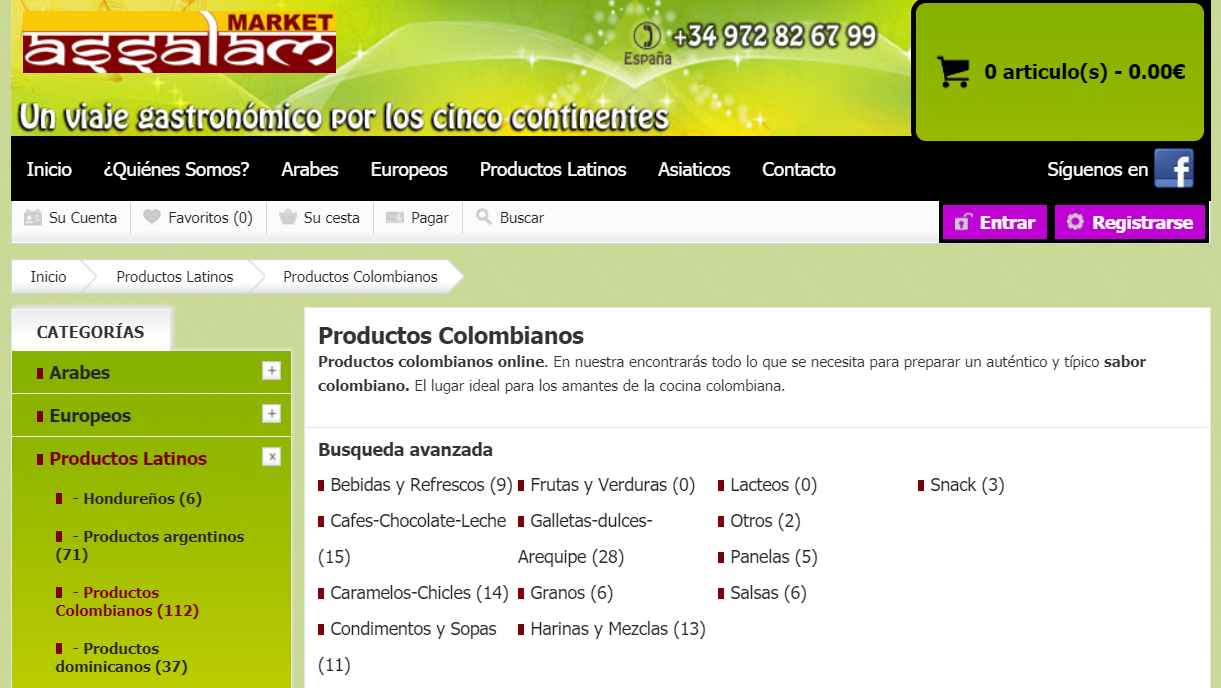 Assalam Market productos colombianos