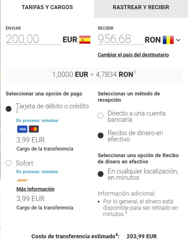 Envío de dinero a Rumania con MoneyGram