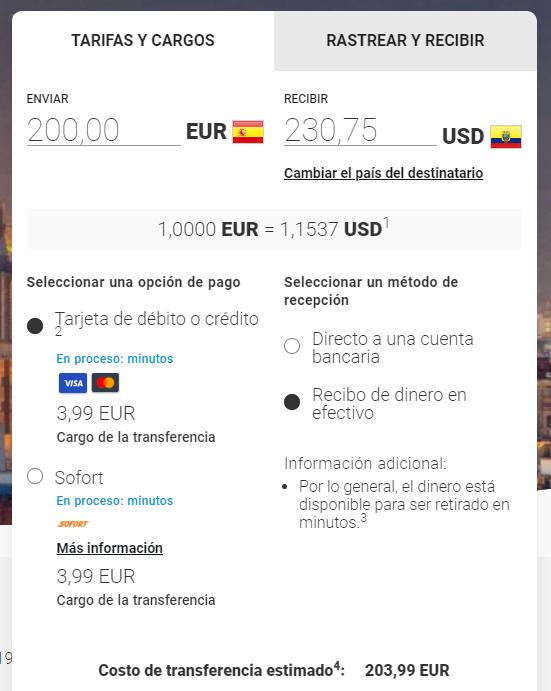 Enviar dinero a Ecuador con MoneyGram