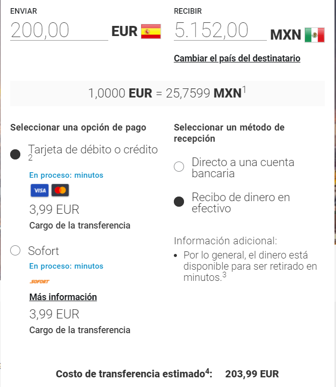 Enviar dinero a México con Moneygram 25 08 2020