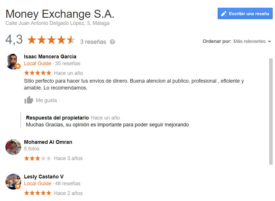 Money Exchange opiniones