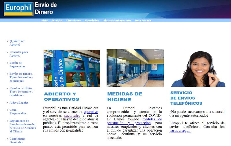 Página web de Europhil