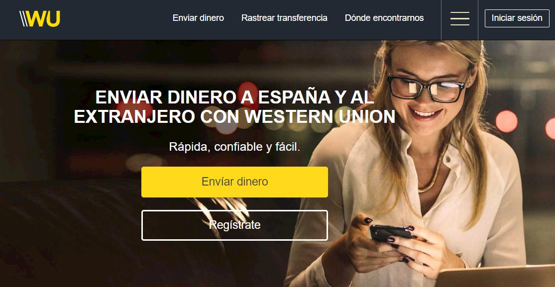 Página web de Western Union España