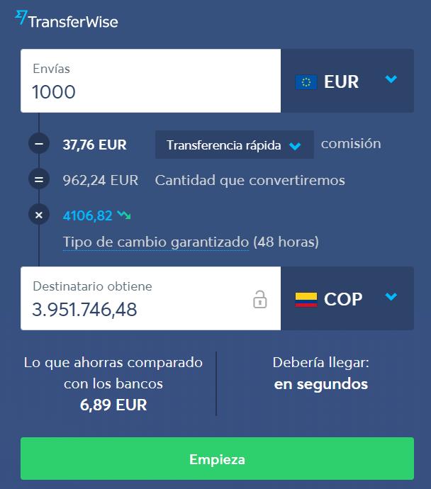 Transferwise para envío de dinero online